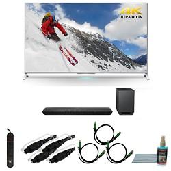 Sony XBR-65X800B 65-inch 4K Ultra HD Smart LED TV Motionflow HT-ST7 Sound Bar Bundle