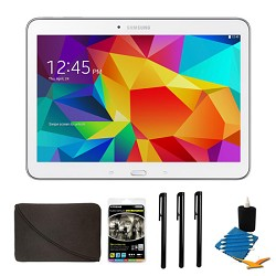 Samsung Galaxy Tab 4 White 16GB 10.1 Tablet and Case Bundle