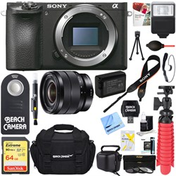 Sony ILCE-6500 a6500 4K Mirrorless Camera with 10-18mm Wi...