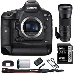 Canon EOS-1D X Mark II Digital SLR Camera Body + 150-600m...