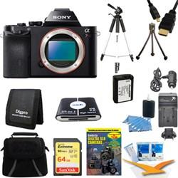Sony Alpha 7R a7R Digital Camera 64 GB SDHC Card Tripod and Battery Bundle