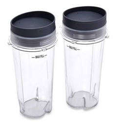 SharkNinja 2 24 oz. Nutri Ninja Cups with Lids - XSK2424 XSK2424