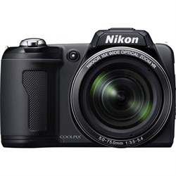 Nikon COOLPIX L110 Digital Camera (Matte Black) NKCPL110KRB