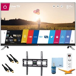 LG 60-Inch 1080p 240Hz 3D LED Smart HDTV Plus Mount & Hook-Up Bundle (60LB7100)