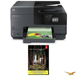 Hewlett Packard Officejet Pro 8610 e-All-in-One Wireless Color Printer w/ Photoshop Lightroom 5