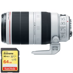Canon EF 100-400mm f/4.5-5.6L IS II USM Lens with Sandisk...