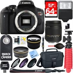 Canon EOS Rebel T6i Digital SLR Camera Body + Sigma 18-25...