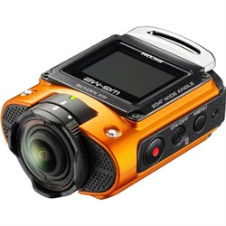 Ricoh WG-M2 Compact Waterproof Wi-Fi Full HD 4K Action Orange Digital Camera Kit