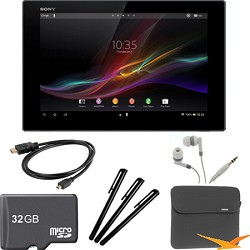 Sony Xperia Black 10.1 16GB Tablet Z 32GB Memory Card Bundle