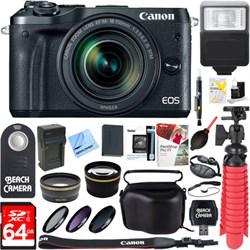 Canon M6 EOS Mirrorless Digital Camera (Black) + 18-150mm...