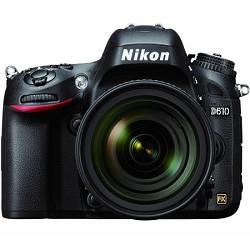 Nikon D610 FX-format 24.3 MP 1080p video Digital SLR Came...