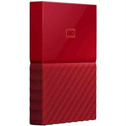 Western Digital WD 3TB My Passport Portable Hard Drive - Red