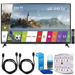 "LG 65"" Super UHD 4K HDR Smart LED TV (2017 Model) w/ Accessories Bundle"