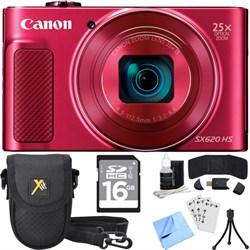 Canon PowerShot SX620 HS 20.2MP Digital Camera Red w/ Ess...