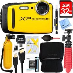 Fuji XP120 Yellow Compact Waterproof Digital Camera + 32G...