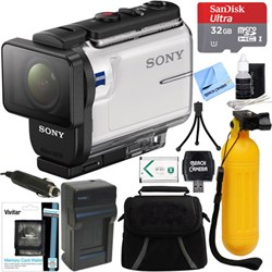 Sony HDR-AS300 Action Cam + 32GB Memory Card & Accessory ...