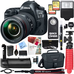 Canon EOS 5D Mark IV 30.4MP DSLR Camera + 24-105mm IS II ...