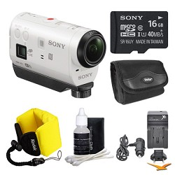 Sony HDR-AZ1/W POV HD Camcorder 16GB Bundle