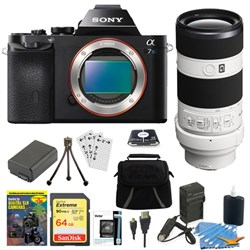 Sony ILCE-7S/B a7S Full Frame Camera + SEL 70-200mm F4 G ...