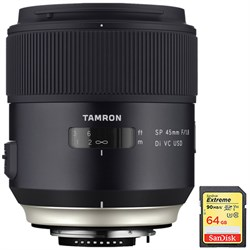 Tamron SP 45mm f/1.8 Di VC USD Lens f/Canon EOS Mount (AF...