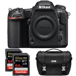 Nikon D500 20.9 MP DX Format DSLR Camera (Body) Dual Pro ...