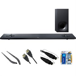 Sony Sound Bar with Hi-Res Audio and Wireless Streaming HT-NT5 w/ Bracket Kit