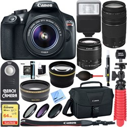 Canon EOS Rebel T6 DSLR Camera w/ EF-S 18-55mm & 75-300mm...