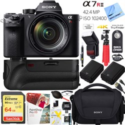 Sony a7R II 42.4MP Mirrorless Camera Bod + FE 24-70mm Len...