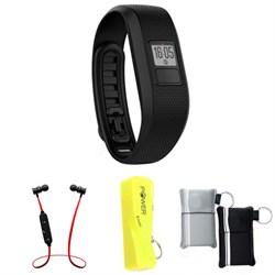Garmin Vivofit 3 Activity Tracker Fitness Band X-Large Fit - Black w/ Power Bank Bundle E2GRVIVOFIT3XLK