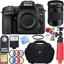 Nikon D7500 20.9MP Digital SLR Camera with Sigma 18-300mm...