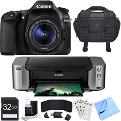 Canon EOS 80D CMOS DSLR Camera w/ EF-S 18-55mm Lens PIXMA...