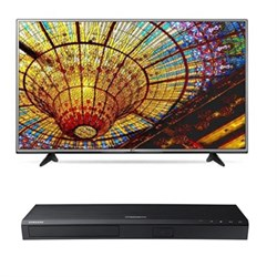 "LG 55UH6030 - 55"""" 4K Ultra HD Smart TV + Samsung UBD-K8500 3D 4K Blu Ray Player"" EMLG55UH6030"