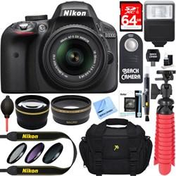Nikon D3300 DSLR 24.2 MP HD 1080p Camera with 18-55mm Len...