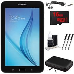 "Samsung Galaxy Tab E Lite 7.0"""" 8GB (Wi-Fi) Black 16GB microSD Card Bundle"" E2SAMSMT113NYKAXAR"