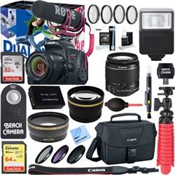 Canon EOS Rebel T7i DSLR Camera Video Creator Kit + 18-55...
