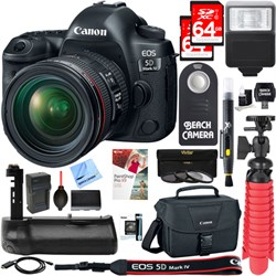Canon EOS 5D Mark IV 30.4MP DSLR Camera with 24-70mm IS U...