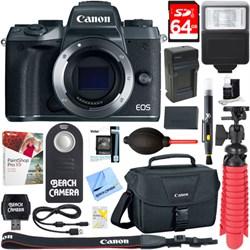 Canon EOS M5 Mirrorless Black Digital Camera Body + 64GB ...