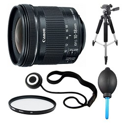 Canon EF-S 10-18mm F4.5-5.6 IS STM Lens, Filter, and Trip...