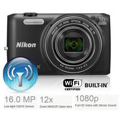 Nikon COOLPIX S6800 16MP, 1080P Wi-Fi Digital Camera w/ 12x Zoom - Factory Refurbished
