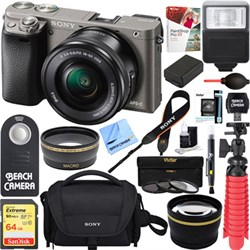 Sony Alpha a6000 24.3MP Mirrorless Camera 16-50mm Power Z...