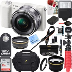 Sony Alpha a5100 Mirrorless Digital Camera 16-50mm Lens W...