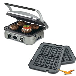 Cuisinart 5-in-1 Grill Griddler Panini Maker Bundle with ...