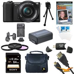 Sony a5100 Mirrorless Camera w/ 16-50mm Zoom Lens Black B...