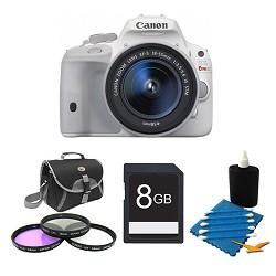 Canon EOS Rebel SL1 Digital SLR with EF-S 18-55mm IS STM Lens White Kit