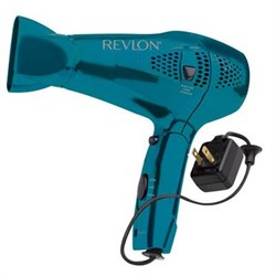 Helen of Troy Revlon 1875 Watt Style and Go Compact Dryer in Blue - RVDR5175N2 HELRVDR5175N2