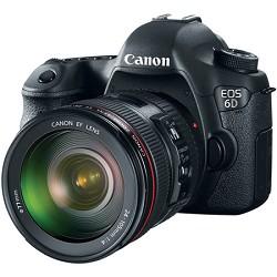 Canon EOS 6D Full Frame 20.2 MP SLR Camera w/ 24-105mm USM f/4.0L IS  AF Lens - PRICE AFTER $200.00 REBATE