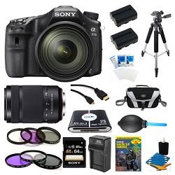 Sony a77II HD DSLR Camera with 16-50mm Lens, 64GB Card, a...