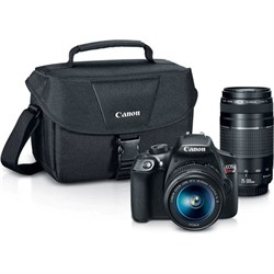 Canon EOS Rebel T6 DSLR Camera w/ 18-55mm IS II + 75-300mm III Double Zoom Kit CNEOSRT6LENSX2
