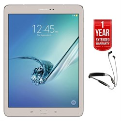 "Samsung Galaxy Tab S2 9.7"" 32GB Tablet (Gold) + R6 Earbud..."