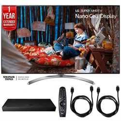 "LG SUPER UHD 65"""" 4K HDR Smart LED TV w/ Blu-ray Player + Extented Warranty Bundle"" E10LG65SJ8500"